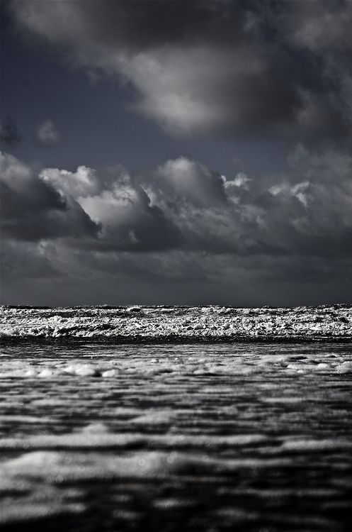 """Pounding in at Croyde"" (Croyde Bay -- North Devon, England)"