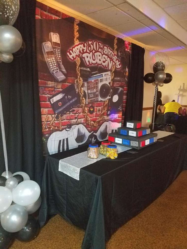 Old school birthday party ideas hip hop 50th and school for 90 s party decoration ideas