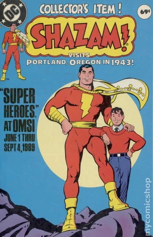 Shazam! Visits Portland Oregon in 1943! (1989) 0 DC Comics Book cover art super heroes villians One shot