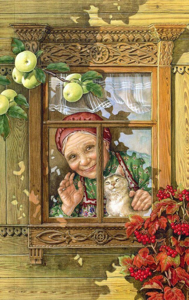 Старые открытки с домом, картинки розы