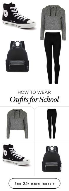 """""""Me school days"""" by kaomong-khaab on Polyvore featuring Wolford, Topshop and Converse"""