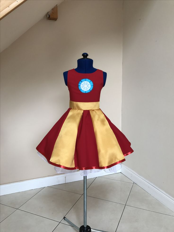 Iron man dress , lajupemix , kids fashion , patriotic dress , kids dress , captain America dress