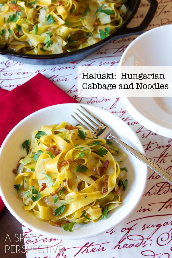 Haluski: Hungarian Cabbage and Noodles with Bacon! from @Sommer | A Spicy Perspective