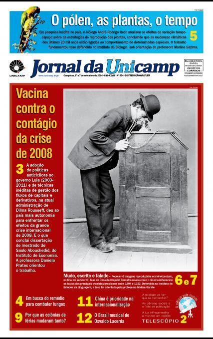Vacina contra o contágio da crise de 2008. Autonomia em meio ao furacão Para pesquisador, medidas adotadas pelos governos Lula e Dilma foram importantes para o país enfrentar efeito-contágio da crise de 2008.