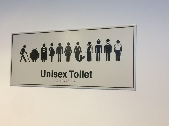 Funny Toilet Signs, Unisex