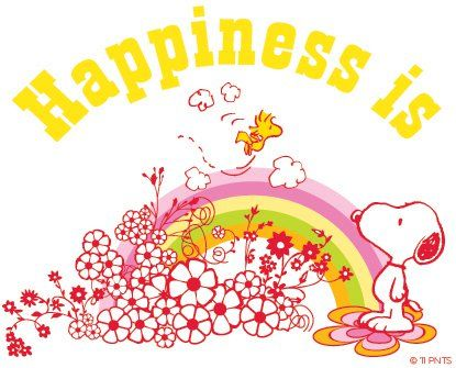 Happines is... #flowers #spring #peanuts #snoopy | love the ...