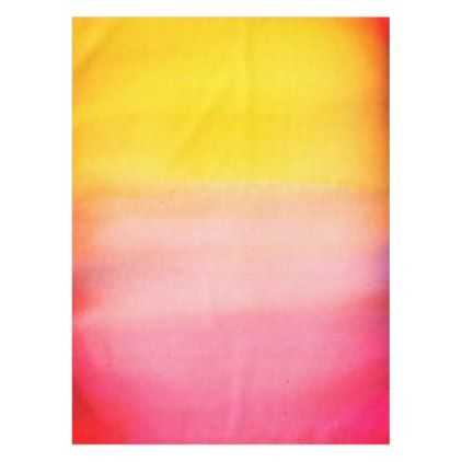 Ombre Watercolor Custom Pink & Yellow Tablecloth - monogram gifts unique design style monogrammed diy cyo customize