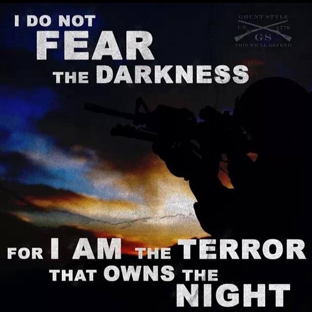 Darkness isn't a handicap - it is just another WEAPON in my arsenal!