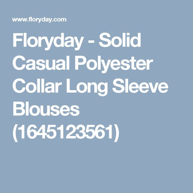 Floryday - Solid Casual Polyester Collar Long Sleeve Blouses (1645123561)