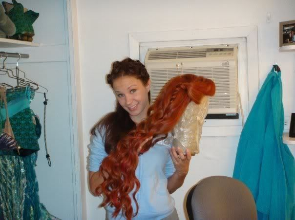 Ariel wig from The Little Mermaid on Broadway.