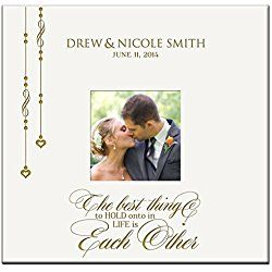 Personalized Mr & Mrs Wedding Anniversary Gifts Photo Album Custom Engraved the Best Thing to Hold Onto in Life Is Each Other Holds 200 4x6 Photos Wedding Gift Ideas By Dayspring Milestones