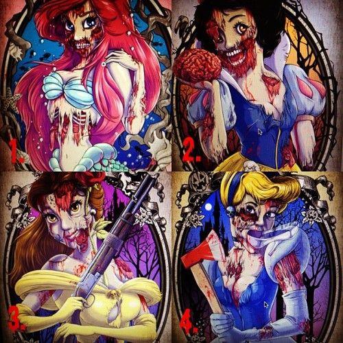Pin by Tattoomaze on Disney Princess Zombie Tattoos ...