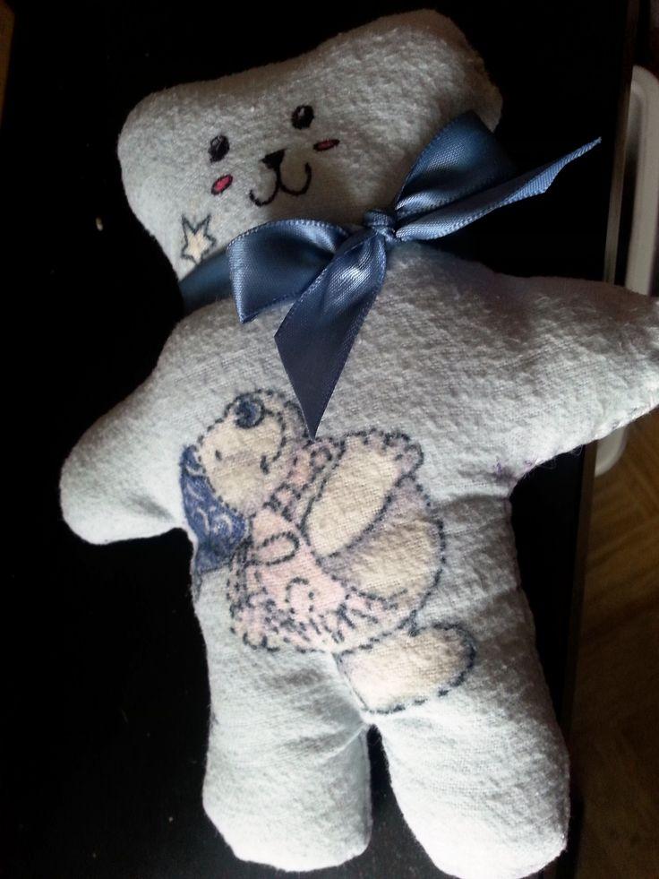 medvídek - první ušitá hračka