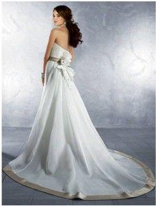 Nowa, Unikalna, Amerykańska Suknia Ślubna Firmy Alfred Angelo, Styl: 2178, Rozmiar 14 (USA), Kolor: Ivory (Kość Słoniowa)/Cafe