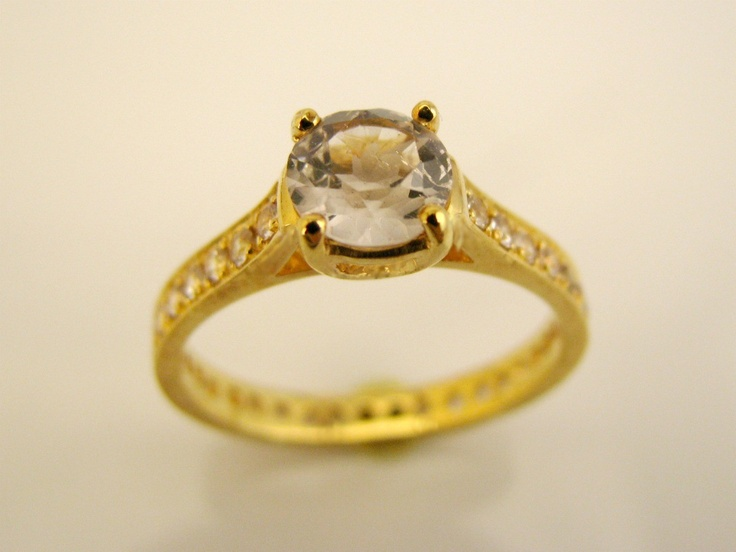 White Sapphire And Topaz Eternity Ring