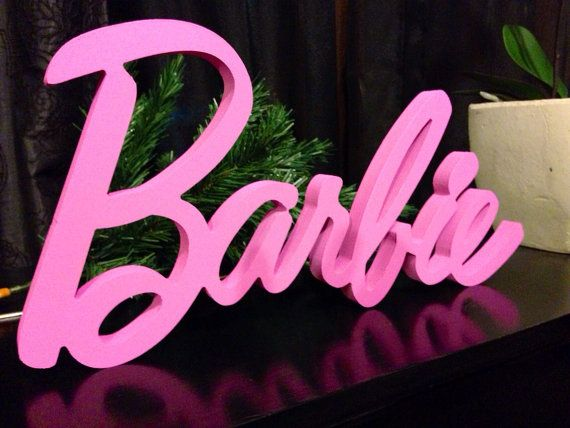 Barbie doll Barbie sign nursery decor wood sign wooden letters home decor kids room, baby name, wall hanging, wall decor, wall sign on Etsy, $59.00