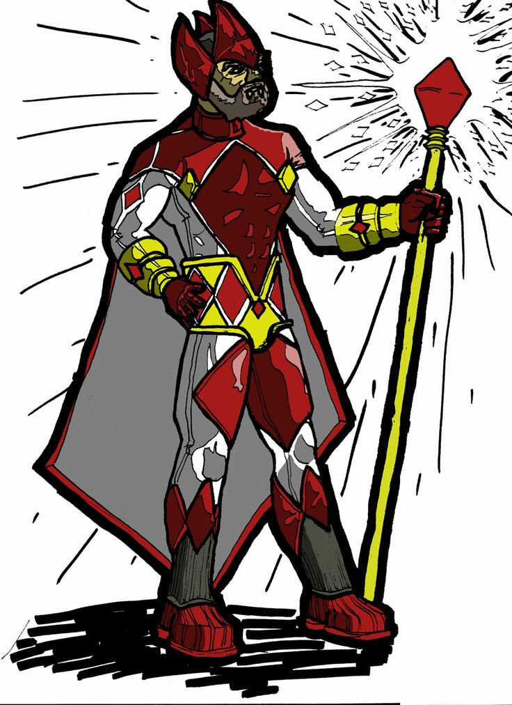 This is a picture I did for someone who wanted a superhero version of playing card characters, so I did the King of Diamonds.