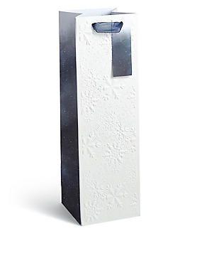 Nordic Noel Snowflake Champagne Bottle Bag | M&S // Deep emboss finish