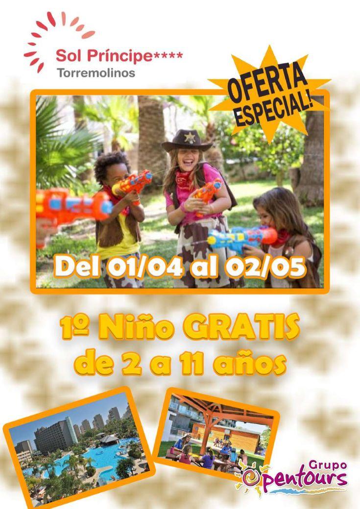 | GRUPO OPENTOURS | . Hotel Sol Príncipe **** (Torremolinos, Costa del Sol, Málaga, Andalucía, España) ---- Especial NIÑO GRATIS 2018 ---- 1º Niño de 2 a 11 años GRATIS, del 01 de Abril al 02 de Mayo ---- Resto condiciones de esta oferta en www.opentours.es ---- Información y Reservas en tu - Agencia de Viajes Minorista - ---- #solprincipe #hotelsolprincipe #niñosgratis #torremolinos #malaga #costadelsol #andalucia  #verano2018 #escapadas #reservas #hoteles #vacaciones #estancias #ofertas…