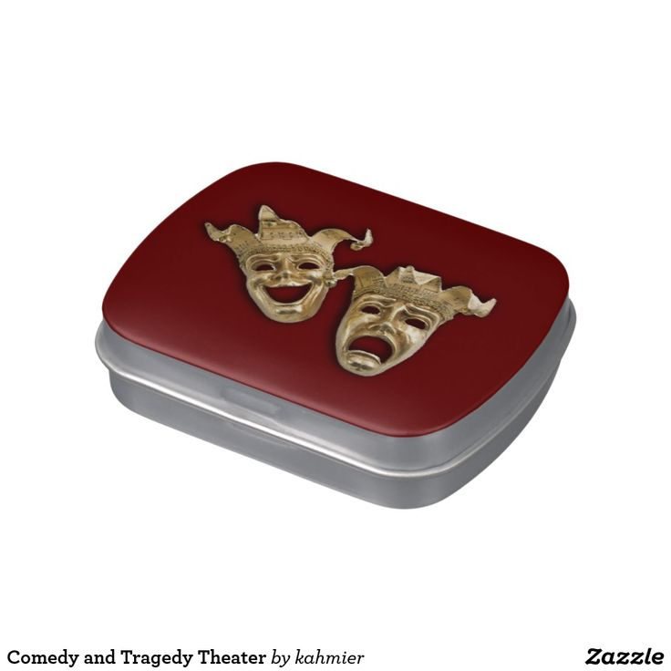 Sold Comedy and Tragedy Theater Jelly Belly Candy Tin