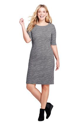 4e86853866 Women's Plus Size Elbow Print Sleeve Ponte Sheath Dress | Clothes ...