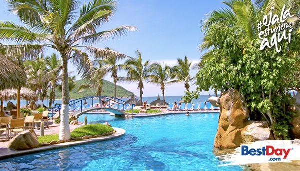 Luna Palace es un hotel sumamente práctico y acogedor para esa estadía a corto o largo plazo por contar con varios tipos de 68 suites totalmente equipadas y con distinta capacidad de alojamiento. Ubicado justo frente a la hermosa Playa Gaviotas, en plena Zona Dorada de Mazatlán, este inmueble cuenta con todo lo que requieres para estar relajado: piscina, gimnasio, restaurante y playa. #OjalaEstuvierasAqui