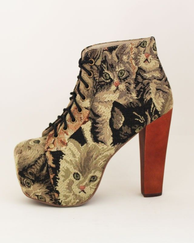 I would wear the heck out of these shoes. : Crazy Cats, Cat Tapestries, Fashion, Campbell Lita, Style, Jeffrey Campbell, Vintage Shoes, Cat Shoes, Crazy Cat Lady