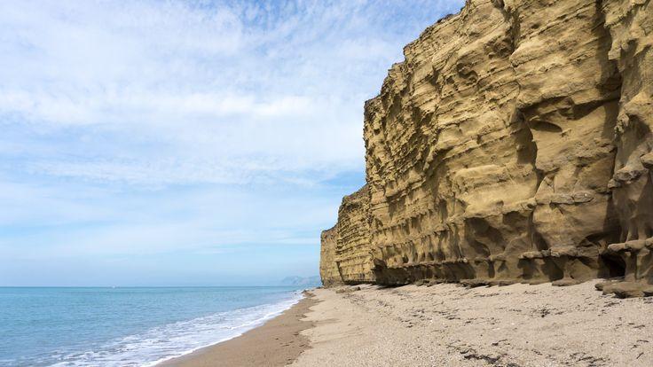 Sandstone cliffs at Golden Cap, Dorset, England