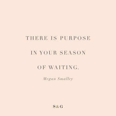 I'm not waiting but I'm not taking action towards getting into a relationship either. I'm chilling and I'm just BEING. and there is purpose in that.