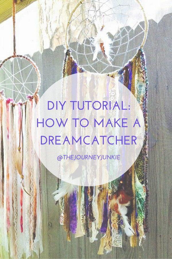 Handmade Dream Catcher Tutorial  .
