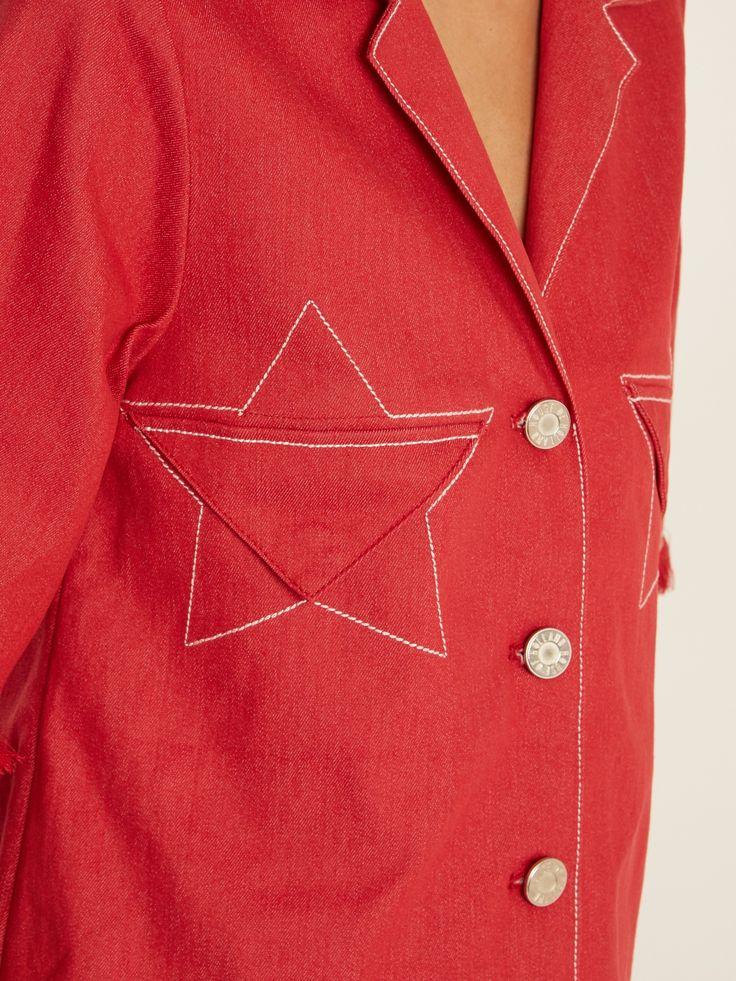 Click here to buy House Of Holland Braided-hem short-sleeved denim shirt at MATCHESFASHION.COM