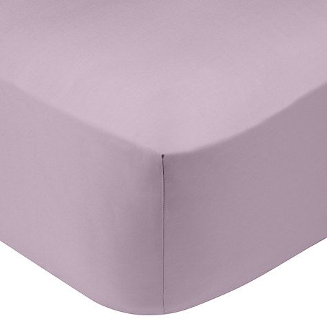 Buy John Lewis 200 Thread Count Polycotton Standard Fitted Sheet Online at johnlewis.com