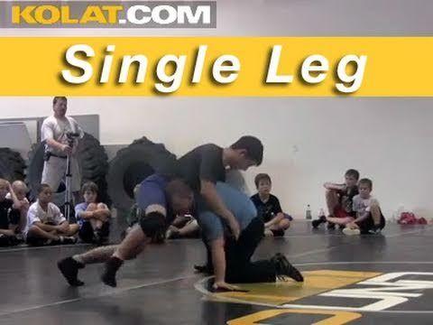 Single Leg Takedown No Lock KOLAT.COM Wrestling Techniques Moves Instruc...