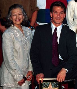 Patrick Swayze and Mom