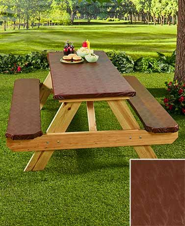 The 3 Pc. Textured Picnic Table Covers Protect Your Table And Benches, While