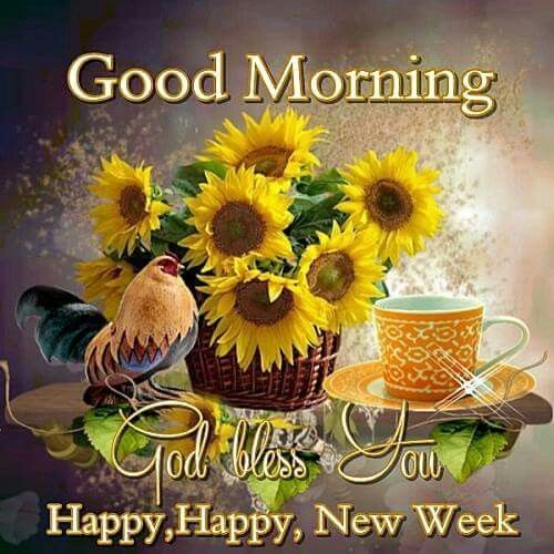 Good Morning God Bless Happy Happy New Week monday good morning monday quotes…