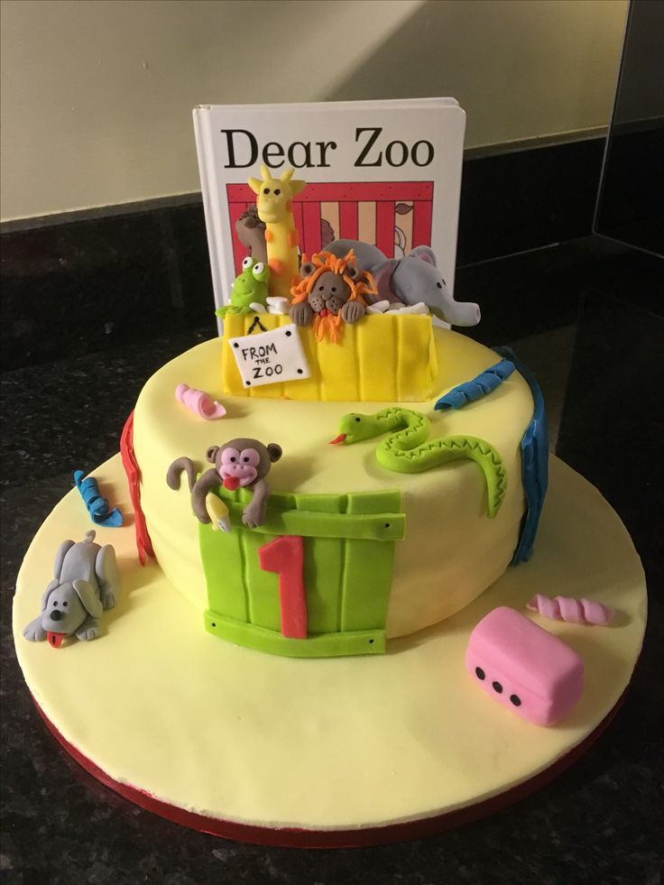 18 best Cakes images on Pinterest Cake ideas Dear zoo and Zoo cake
