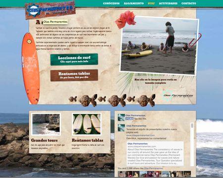 sitio web de olas permanentes, página de surf. 2014. ®raquel marón estudio creativo www.olaspermanentes.com