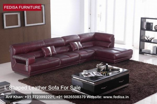 L Shape Sofa Set L Shaped Couch Black Leather Sectional Fedisa