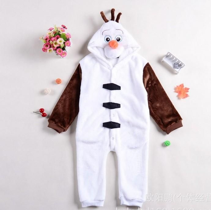 #Pajamas For Kids On Sale 2014 New Frozen Olaf For Kids Halloween Animal Cartoon Cosplay Costume Pajamas Outfit Nightclothes Clothing Childrens Olaf Pajamas K189 Winter Pajamas For Girls From Adayccompany, $81.3| Dhgate.Com