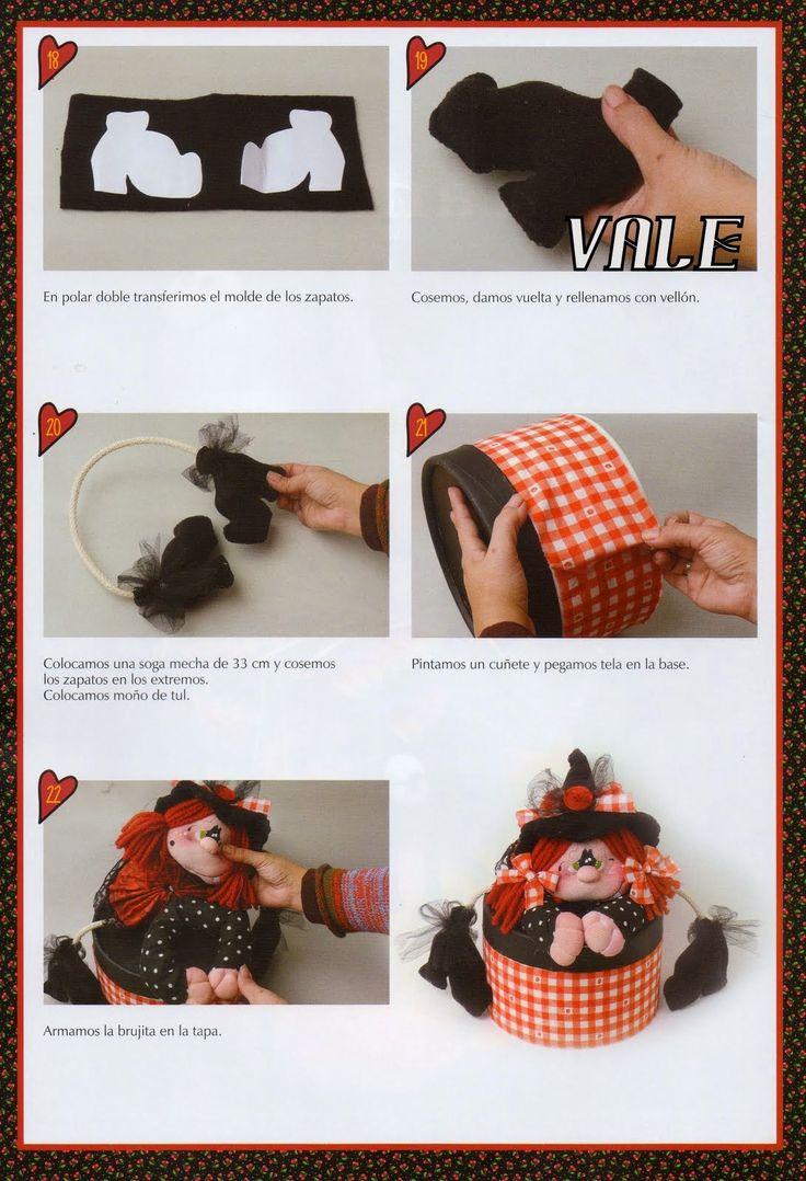 como hacer una muñeca brujita