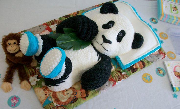 baby panda baby shower 3d cake pin for pandas pinterest