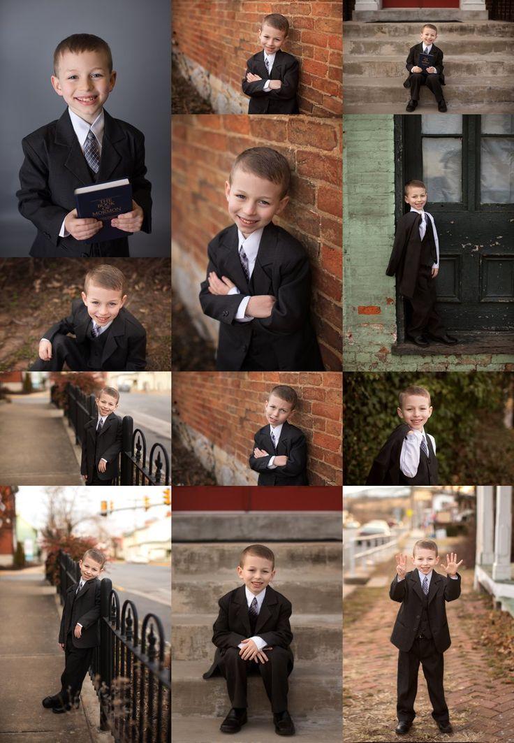 Stephens City Virginia Child Photographer. Children's Boy Poses. LDS Baptism Photos.  www.kensiem.com | Northern Virginia Photographer
