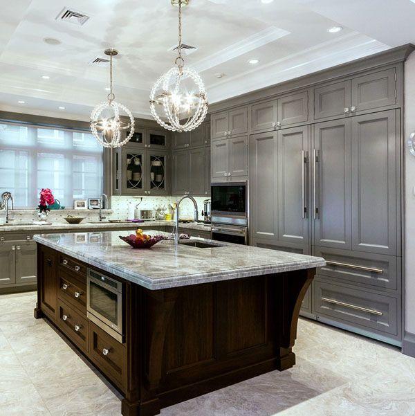 65 Extraordinary Traditional Style Kitchen Designs. Grey CabinetsDark ...