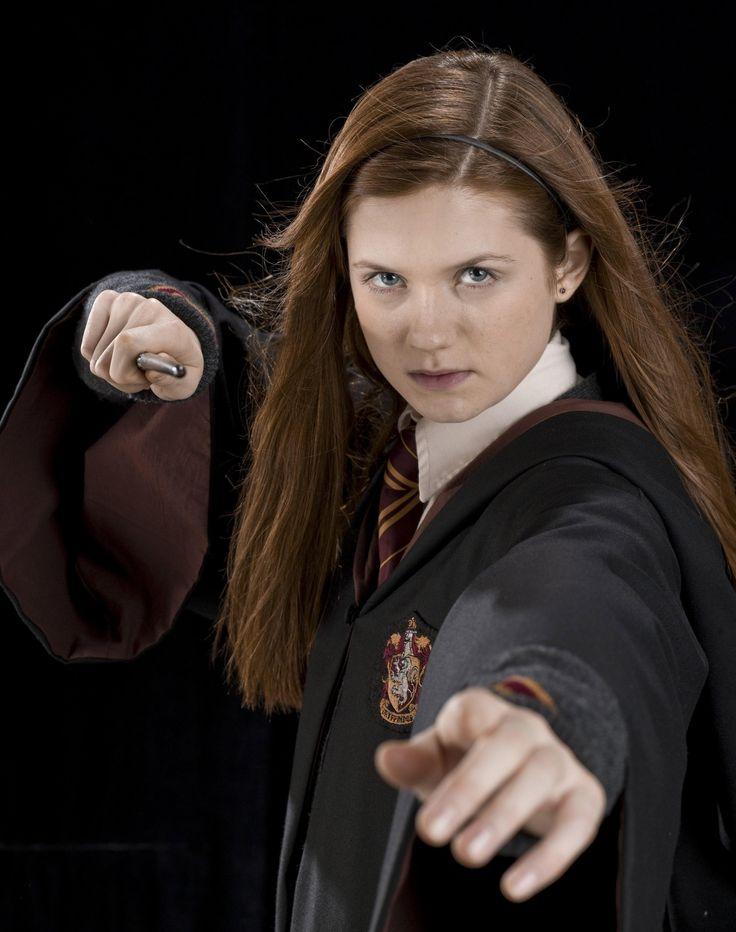 Bonnie Wright as Ginny Weasley.