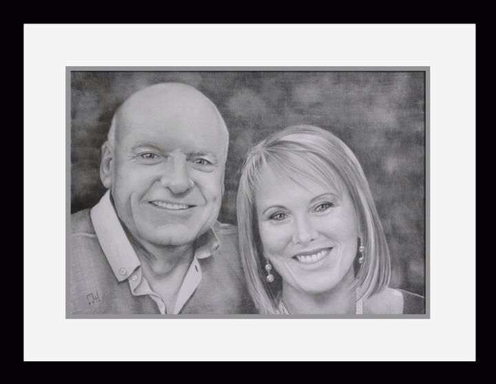 Ken and Kathy.  Commissioned drawing.