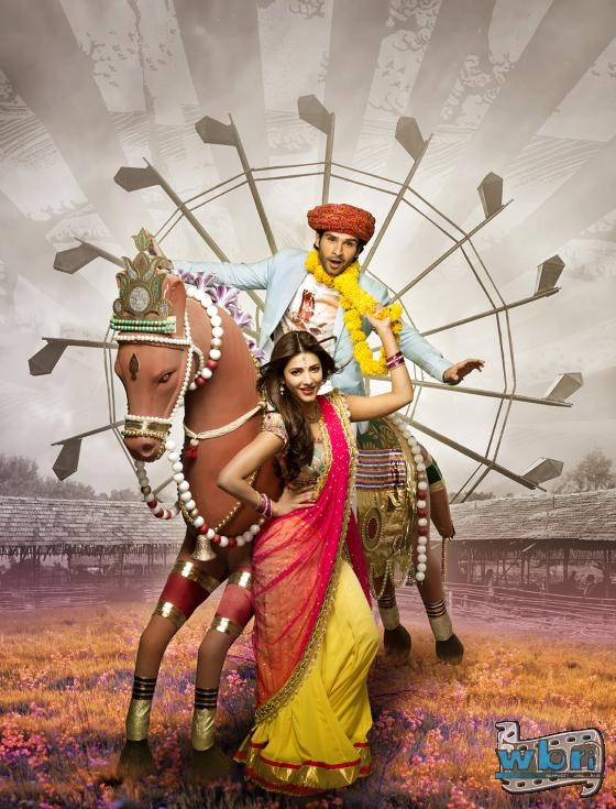 Prabhudheva introduces his Ramaiya Vastavaiya lead Girish Kumar at the Indian Film Festival of Melbourne.   Girish Kumar and Shruti Haasan: Indian Bollywood hindi movie Ramaiya Vastavaiya Wallpaper Poster