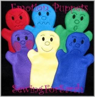 EmotionsHandPuppets - SewingForSarah.Webs.Com