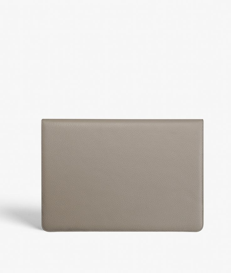 "MacBook Pro 13"" Cover - Calf Drummed Beige Exclusive handcrafted leather cases for iPhone, iPad and MacBook from The Case Factory"