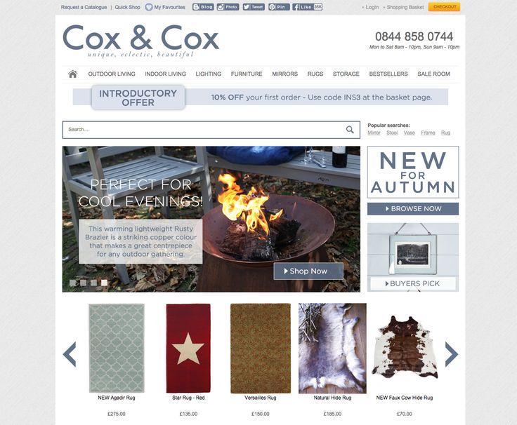 Cox & Cox homepage